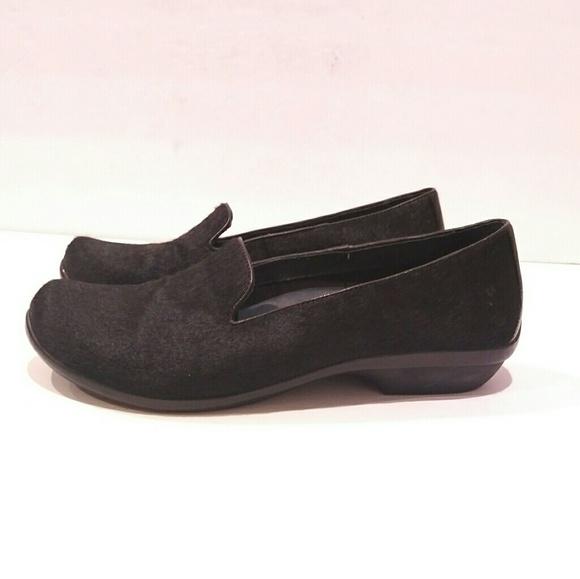 7fcc4c6e7c8 Dansko Olivia Black Calf hair Slip-on Loafer